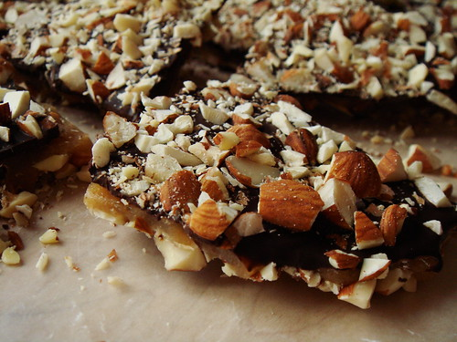 Chocolate Almond Buttercrunch Toffee