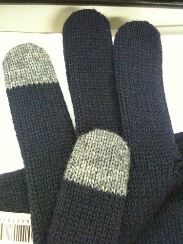 タッチパネル可能手袋