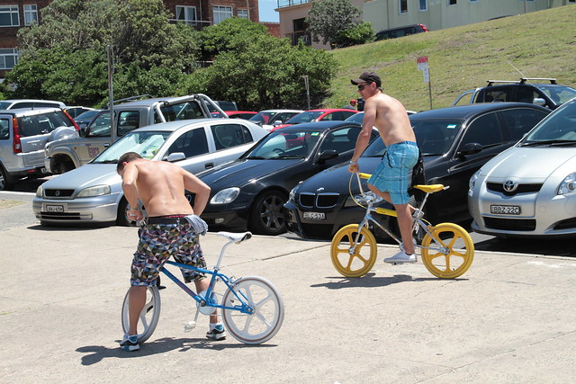 Guys and their BMX bikes