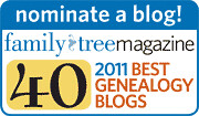 Family Tree Top 40 Blogs