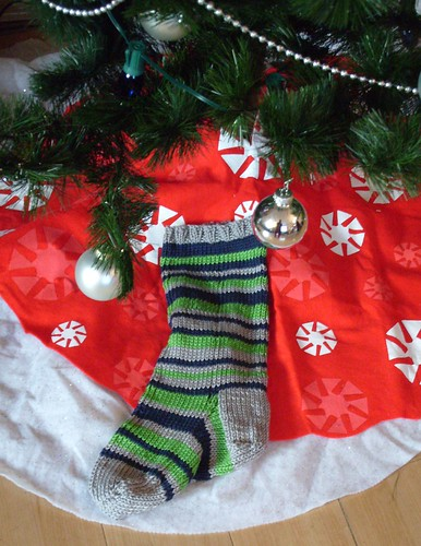stripey christmas stocking