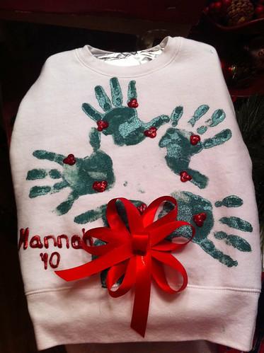 Hannahs wreath shirt