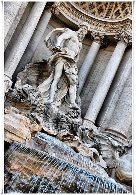 Detalle Fontana di Trevi - Neptuno
