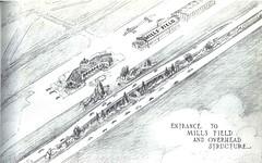 Mills Field (San Francisco International Airport) interchange (1940) (Eric Fischer) Tags: plan us101 bayshorefreeway unitedstateshighway101