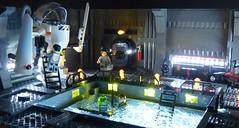 Moon pool one (Legoagogo) Tags: water lego moc exosuit moonpool