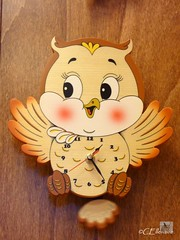 Eulenzeit / owl time (Ellenore56) Tags: light inspiration color colour clock lumix licht photo wooden foto emotion time magic panasonic owl data imagination moment holz magical farbe zeit zahlen uhr augenblick eule numerics faszination ziffern tz7 dmctz7 numerary panasoniclumixdmctz7 ellenore56 owltime 15122010 zahlenkranz eulenzeit