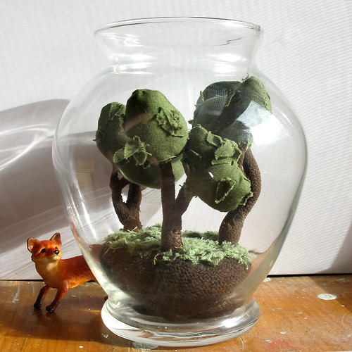 3 tree black thumb terrarium