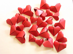 Origami création - Didier Boursin - Coeurs