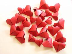 Origami création - Didier Boursin - Coeurs