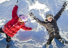 snow angels (i.m.j.) Tags: snow wales cymru wideangle snowangels snowballs anglesey ynysmn siwan brynteg gwion efs1022mm13545usm canon7d gigglingidiots