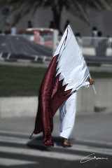 Qatar National Day ( Gio) Tags: flag corniche doha qatar nationalday  qatarflag dohacorniche  qatarnationalday
