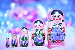 Merry Merry Matryoshka (*Sakura*) Tags: christmas pink blue macro japan purple gift  sakura  matryoshka holidayseason   matryoshkadoll