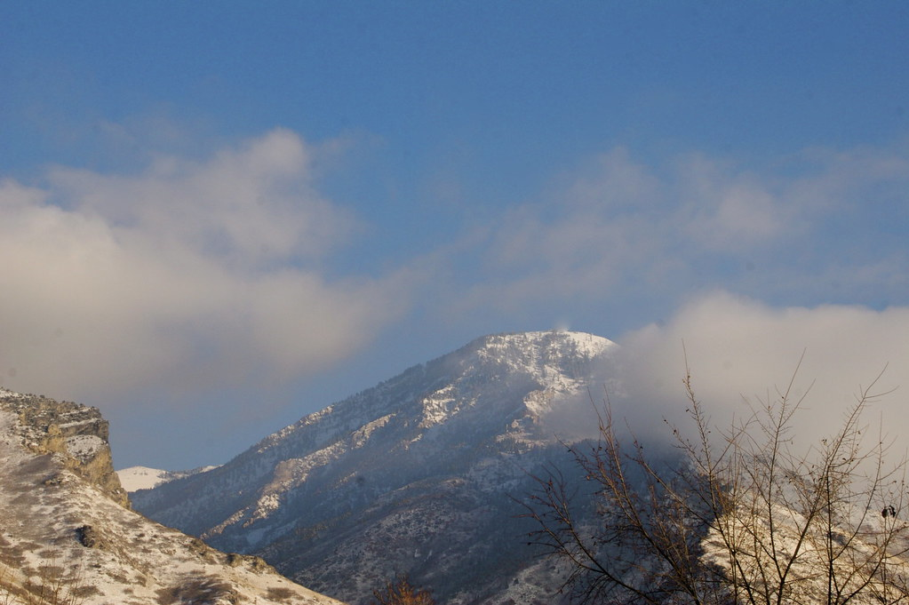 Snow-Dusted Wasatch Mountains