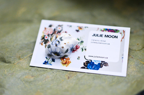 Ceramic Heart Brooch by Julie Moon