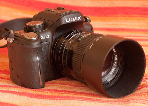 Panasonic DMC-GH2 + Canon nFD 50mm f1.2