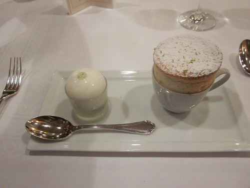 Comme Chez Soi - Brussels - December 2010 - Lime Souffle with Lime Sorbet