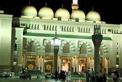 (Hossam all line) Tags: door people him al peace muslim islam entrance mosque mohammed saudi arabia be muslims domes prophet  upon islamic ksa    the  madinah    zamzam