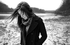 (Steven Sites) Tags: bw woman white snow black sexy texture water girl monochrome contrast canon hair outside outdoors eos sweater emily sweet mark stevens sigma reservoir ii 5d steven 24mm f18 qurl gurl sites peacoat emilystevens stevensites
