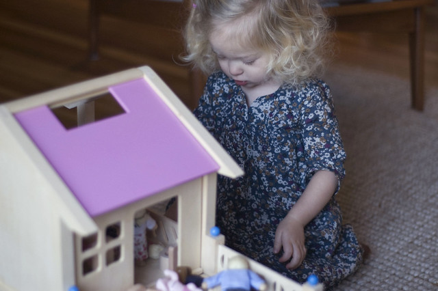 a dollhouse from Santa!