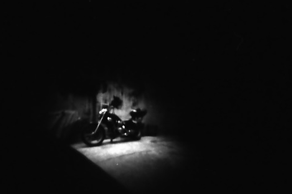Motorcycle pinhole photo