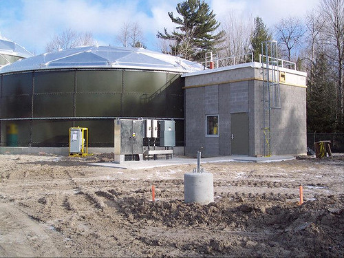 Waste Water treatment facilities, funded by USDA, are nearing completion in West Branch, Michigan. (Photo courtesy of the City of West Branch)