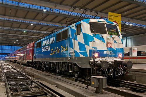 111 017 im Münchner Hauptbahnhof