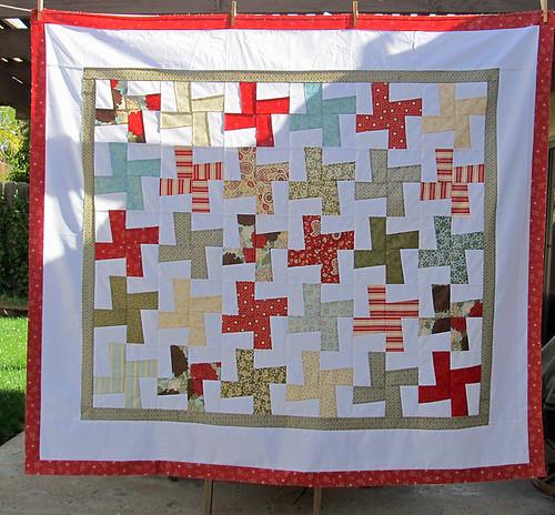 wonky pinwheels quilt