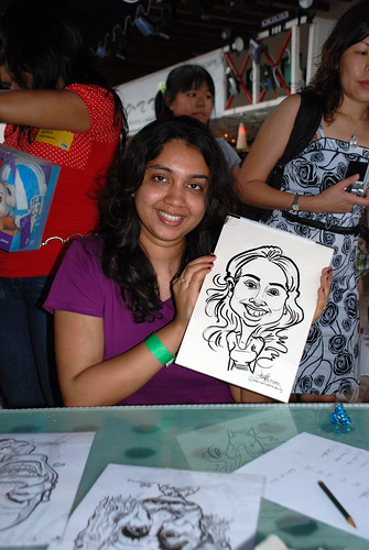 Caricature live sketching for VISA Beach Party 2010 -19