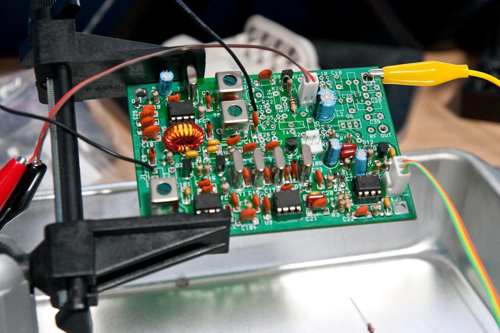 Aligning the transmitter bandpass filter