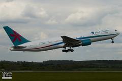 G-DBLA - 26063 - First Choice Airways - Boeing 767-35EER - Luton - 100513 - Steven Gray - IMG_0989