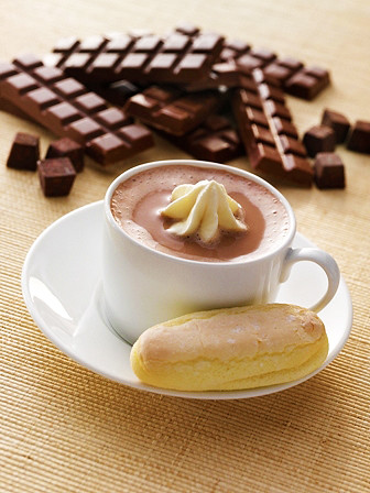 Hot Chocolate and Lady Fingers