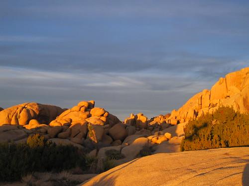 Jumbo Rocks near sunset