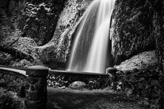 Slippery Path (david.bardes) Tags: winter bw white black ice water oregon highway pentax columbia falls historic filter gorge density neutral wahkeena nd400 k20d