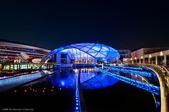 Ferrari World (DanielKHC) Tags: world park blue night digital reflections lights 1 interestingness high nikon dubai dynamic ferrari explore octopus formula theme abu dhabi range dri hdr blending d300 rossa danielkhc tokina1116mmf28 gettyimagesmeandafrica1