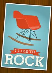 Eames - I Like to Rock (h4ndz) Tags: art rock modern print screenprint calendar furniture days danish fiberglass etsy rocking letterpress eames plywood rar panton midcentury stiglindberg cmyk 2011 bersa catherineholm walldecal