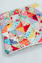 Patchwork Zippy Pouch (Jeni Baker) Tags: 2 project bag cool warm apartment handmade sewing year january pouch quilting finished zipper zippy bags 365 projects crafting hst 2011