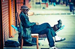 Retirement plan. Harlem USA (hafeez raji) Tags: nyc people newyork america sitting african harlem africanamerican