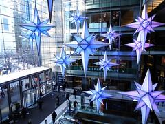 Stars (JnnLynn) Tags: christmas camera new york city winter snow club digital mall nikon time center warner coolpix stores flakes p100 digitalcameraclub
