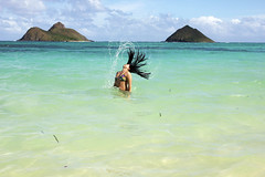 IMG_0987 (kat carney) Tags: ocean blue sky water swim island hawaii flip