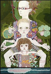 Del Kathryn Barton - You are what is most beautiful about me, a self portrait with Kell and Arella