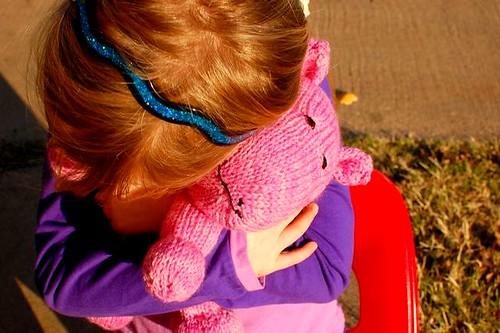 hugging hippo