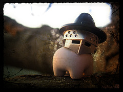 Mograkai's Magical Mount (Morgan190) Tags: pig lego bokeh witch wizard magic mount minifig custom magical oink m19 minifigure iwako morgan19 mograkai armoredpigwizard