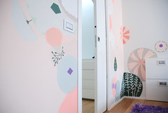 r8 (Studio Fludd) Tags: pink white flower home girl wall painting bedroom flora purple handmade geometry pastel decoration salmon brush fludd floreale studiofludd