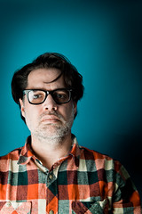 Stock-034-20110107.jpg (T. Scott Carlisle) Tags: glasses rocks teal products judy lumberjack plm tsc plaidshirt tscottcarlisle tscottcarlislecom