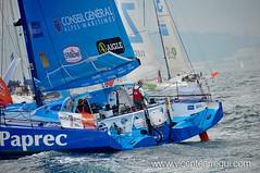 Virbac-Paprec en la salida de la Barcelona World Race 2010-2011