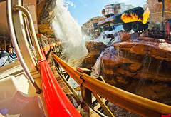 Catastrophe Canyon (Tom.Bricker) Tags: film nikon disney fisheye disneyworld hollywood mickeymouse wdw waltdisneyworld studios disneymgmstudios waltdisney sunsetboulevard graumanschinesetheatre waltdisneystudios hollywoodstudios disneyphotos thestudios disneyshollywoodstudios disneyphotography wdwfigment tombricker disneyfisheye
