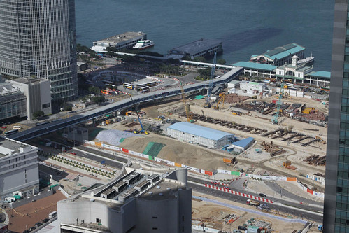 New Star Ferry pier, Central Reclamation Phase 3 in the foreground