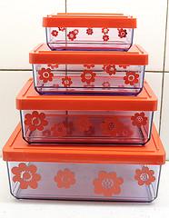 """Storage boxes """"Sally"""" plastic 70s Sweden (Ankar60) Tags: red flower vintage denmark design sweden swedish storage sally plastic 70s erik boxes sverige svensk röd plast kold"""