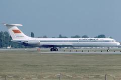 Aeroflot Ilyushin 62 CCCP-86502 at Vienna on 1987/10/05 (Manfred Saitz) Tags: vienna aeroflot ilyushin62 cccp86502