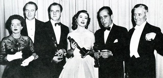 Bette Davis, George Sanders, Karl Malden, Greer Garson, Humphrey Bogart and Ronald Colman